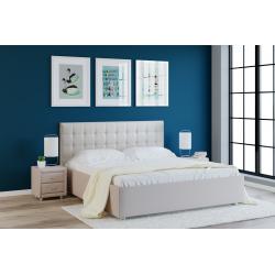 Кровать с мягкими изголовьем Глория Лефорт