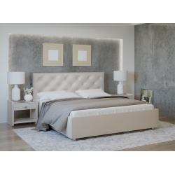 Кровать с мягкими изголовьем Анжели Лефорт