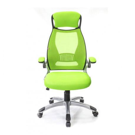 Кресло офисное с сетчатой спинкой Винд PL TILT лайм А-класс