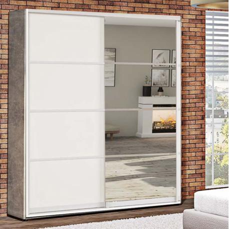 Шкаф-купе ДСП+Зеркало из 4-х Стандарт 210/240х45х140 Комфорт-мебель