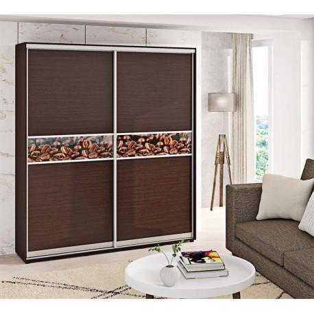 Шкаф-купе ДСП Модель 2 Стандарт 210/240х45х160 Комфорт-мебель