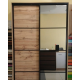 Шкаф-купе ДСП+Зеркало из 4-х Стандарт 210/240х45х200 Комфорт-мебель