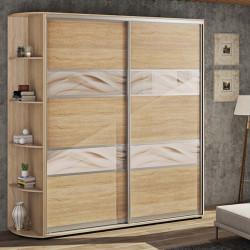 Шкаф-купе ДСП Модель 3 Стандарт 210/240х45х100 Комфорт-мебель