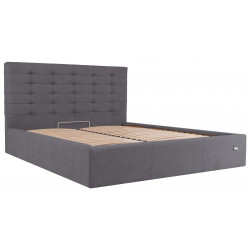 Ліжко з м'яким узголів'ям Еріка Richman Стандарт Тканина Місті Dk.Grey