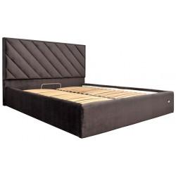 Ліжко з м'яким узголів'ям Чикаго Richman Стандарт Тканина Рів'єра