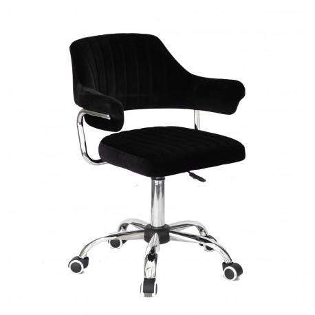 Кресло офисное Onder Mebli Jeff CH-Office Бархат Черный В-1011