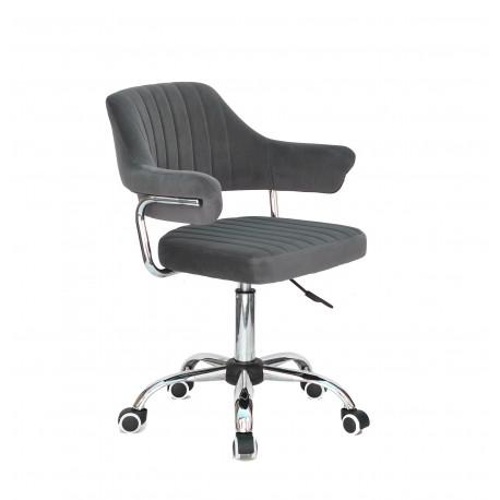 Кресло офисное Onder Mebli Jeff CH-Office Бархат Серый В-1004
