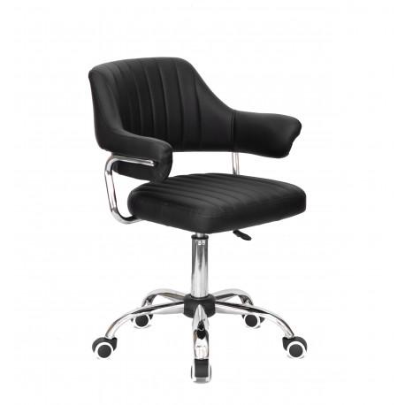 Кресло офисное Onder Mebli Jeff CH-Office Кожзам Черный