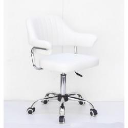 Кресло офисное Onder Mebli Jeff CH-Office Кожзам Белый