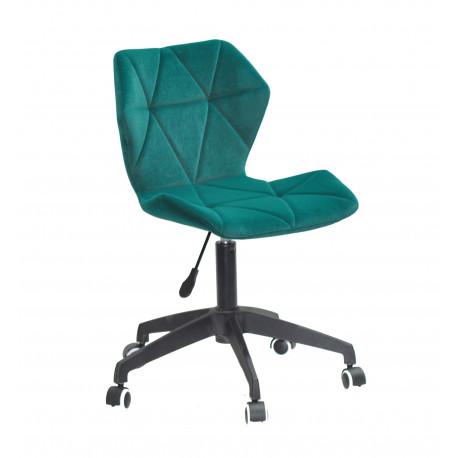 Кресло офисное Onder Mebli Torino BK - Modern Office Бархат Зеленый В-1003