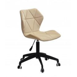 Кресло офисное Onder Mebli Torino BK - Modern Office Бархат Бежевый В-1005