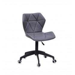 Кресло офисное Onder Mebli Torino BK - Modern Office ЭкоКожа Серый 1001