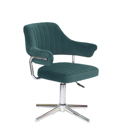 Кресло Onder Mebli Jeff Modern Base Бархат Зеленый В-1003