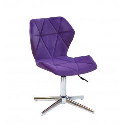 Кресло Onder Mebli Torino Modern Base Бархат Пурпур В-1013
