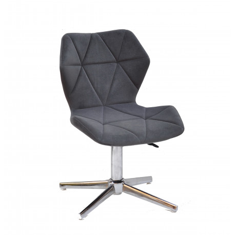 Кресло Onder Mebli Torino Modern Base Бархат Серый В-1004