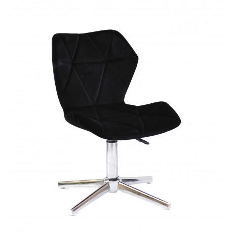 Кресло Onder Mebli Torino Modern Base Бархат Черный В-1011