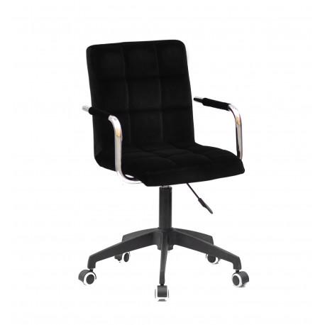 Кресло для персонала Onder Mebli Augusto Arm BK-Modern Office Бархат Черный В-1011