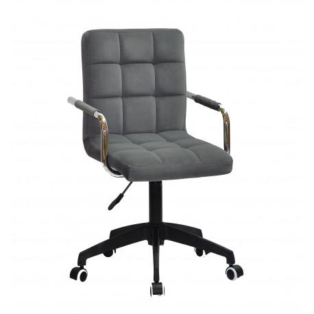 Кресло для персонала Onder Mebli Augusto Arm BK-Modern Office Бархат Серый В-1004
