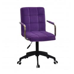 Кресло для персонала Onder Mebli Augusto Arm BK-Modern Office Бархат Пурпур В-1013