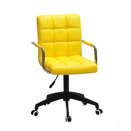 Кресло Onder Mebli Augusto Arm BK-Modern Office ЭкоКожа Желтый 1006
