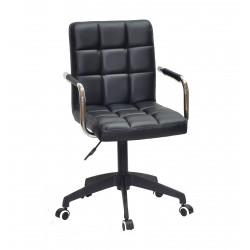 Кресло Onder Mebli Augusto Arm BK-Modern Office ЭкоКожа Черный