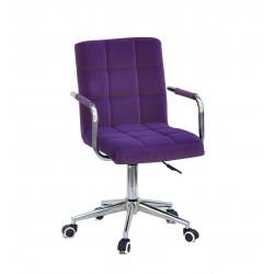 Кресло Onder Mebli Augusto Arm CH-Modern Office Бархат Пурпур В-1013