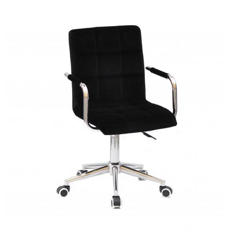Кресло Onder Mebli Augusto Arm CH-Modern Office Бархат Черный В-1011