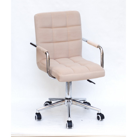 Кресло Onder Mebli Augusto Arm CH-Modern Office Бархат Беж В-1005