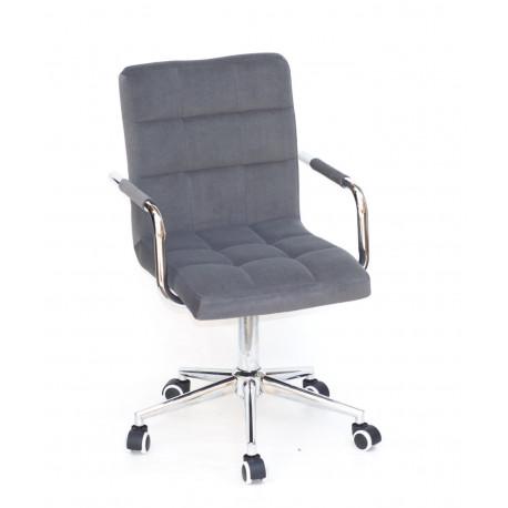 Кресло Onder Mebli Augusto Arm CH-Modern Office Бархат Серый В-1004