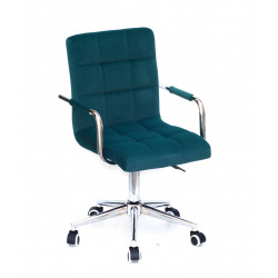 Кресло Onder Mebli Augusto Arm CH-Modern Office Бархат Зеленый В-1003