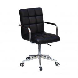 Кресло Onder Mebli Augusto Arm CH-Modern Office ЭкоКожа Черный