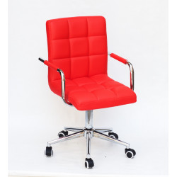 Кресло Onder Mebli Augusto Arm CH-Modern Office ЭкоКожа Красный 1007