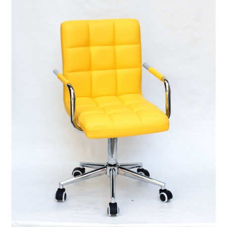 Кресло Onder Mebli Augusto Arm CH-Modern Office ЭкоКожа Желтый 1006