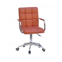 Кресло Onder Mebli Augusto Arm CH-Modern Office ЭкоКожа Коричневый 1014