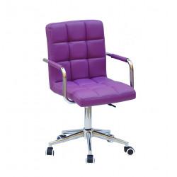 Кресло Onder Mebli Augusto Arm CH-Modern Office ЭкоКожа Пурпурный 1010