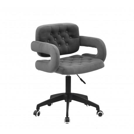 Кресло офисное Onder Mebli Gor BK - Modern Office Бархат Серый В-1004