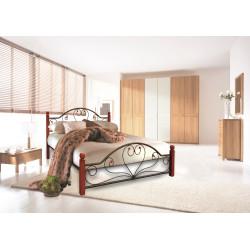 Ліжко Джоконда на дерев'яних ніжках Метал-Дизайн