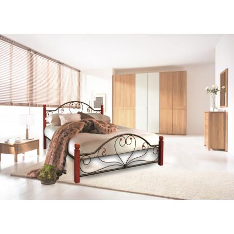 Кровать двухспальная Джоконда на деревянных ножках Металл-Дизайн