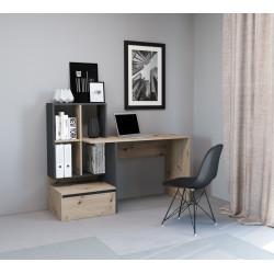 Стол письменный PACO PC 02 (145 см) дуб артизан/антрацит GF Furniture