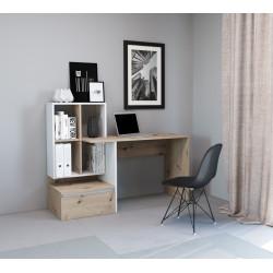 Стол письменный PACO PC 02 (145 см) дуб артизан/белый GF Furniture