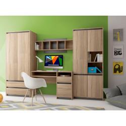 Детская стенка Madagaskar II дуб сонома/графит GF Furniture
