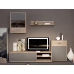 Мебельная стенка Selena дуб сонома/латте GF Furniture