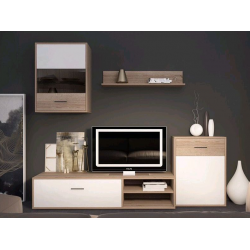 Мебельная стенка Selena дуб сонома/белый GF Furniture
