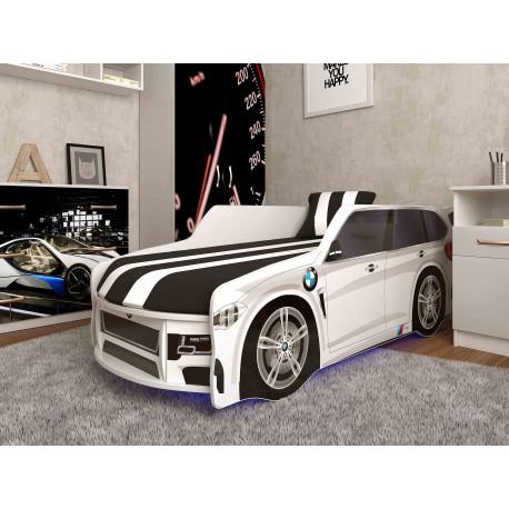 Кровать с подъемным механизмом+матрас Viorina-Deko Premium BMW Р002 Белый с черным