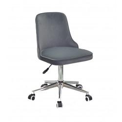 Кресло Onder Mebli Адам Modern Office Бархат Серый В-1004