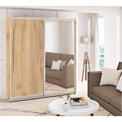 Шкаф-купе ДСП+Зеркало Стандарт 210/240х60х100 Комфорт-мебель