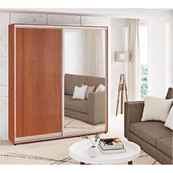 Шкаф-купе ДСП+Зеркало Стандарт 210/240х60х130 Комфорт-мебель