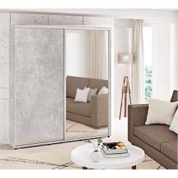 Шкаф-купе ДСП+Зеркало Стандарт 210/240х60х140 Комфорт-мебель