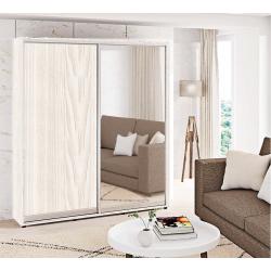 Шкаф-купе ДСП+Зеркало Стандарт 210/240х60х160 Комфорт-мебель
