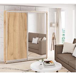 Шкаф-купе ДСП+Зеркало Стандарт 210/240х60х170 Комфорт-мебель